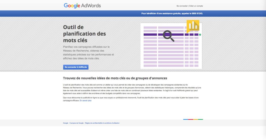 Google Keyword Planner
