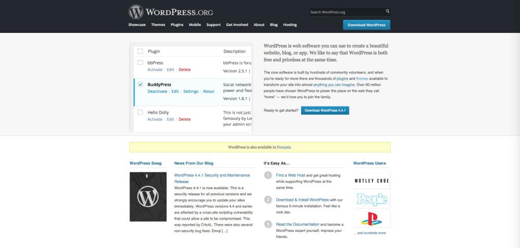 Wordpress comme CMS pour un site