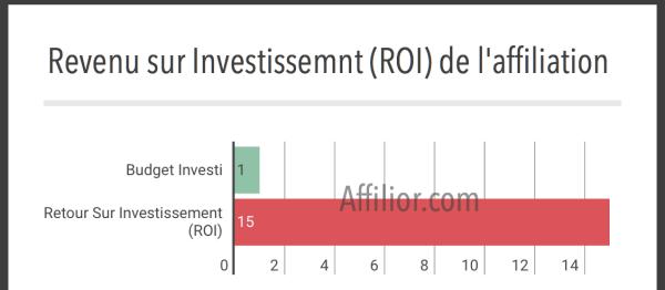 revenu sur investissement de l'affiliation française