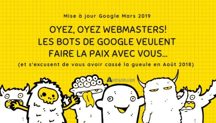 Mise à jour de Google 2019